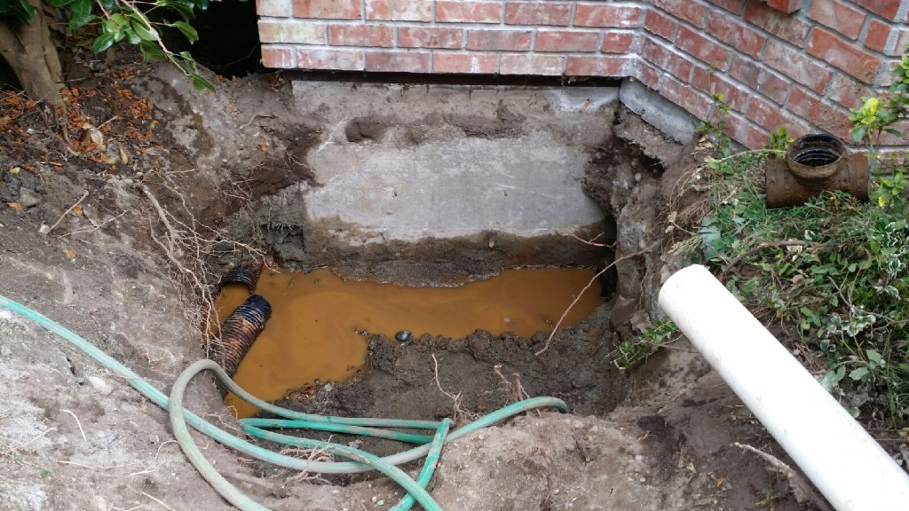 Broken Drainage Pipe